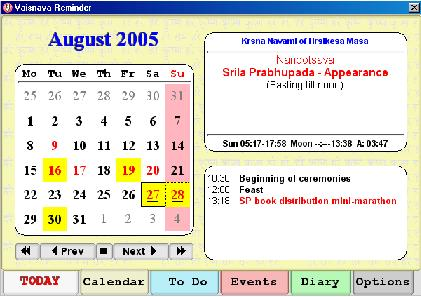 Vaishnava Calendar 2020 CalendarWhosWho